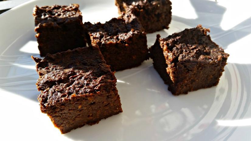 Pumpkin and carob brownie, vegan, gluten free 3